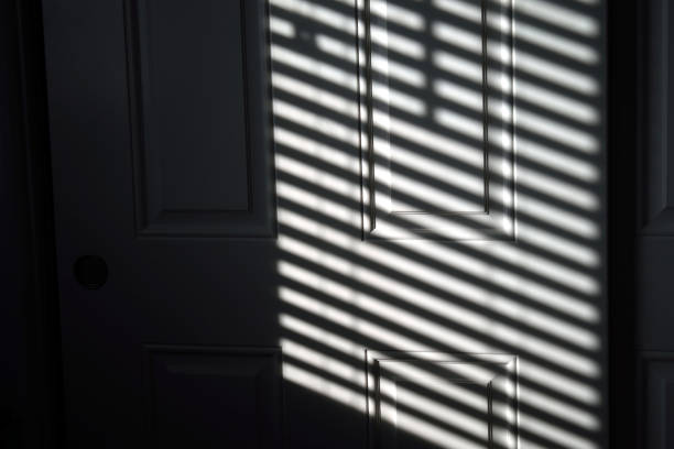Sunlight On My Closet Door stock photo