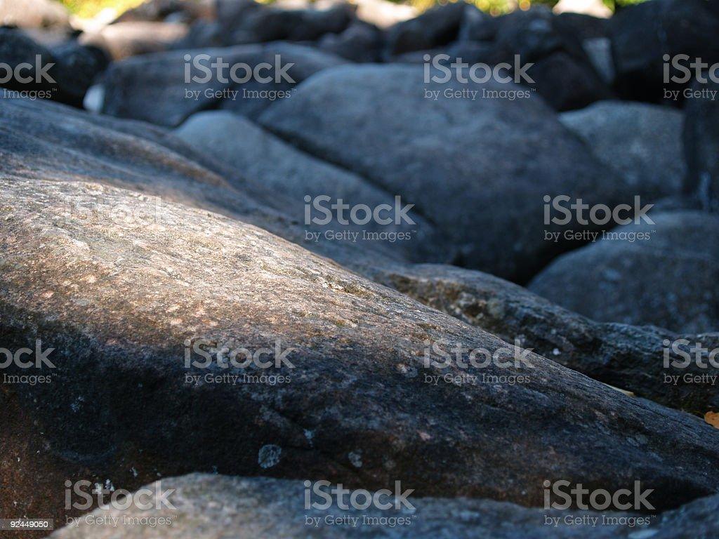 sunlight on rock royalty-free stock photo