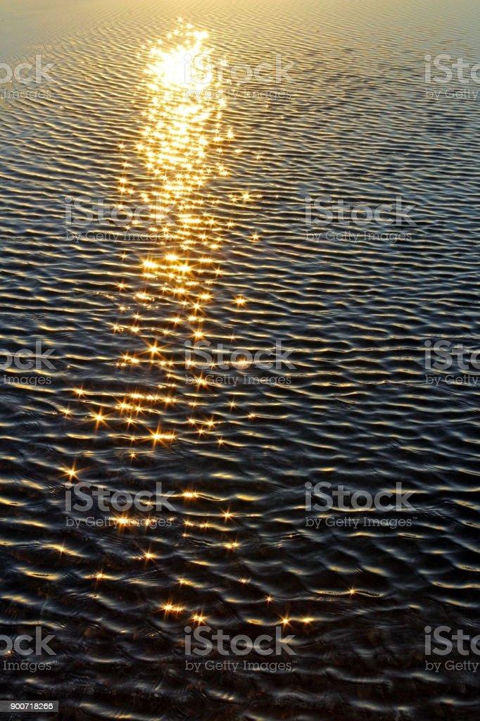 Sunlight on the ocean stock photo