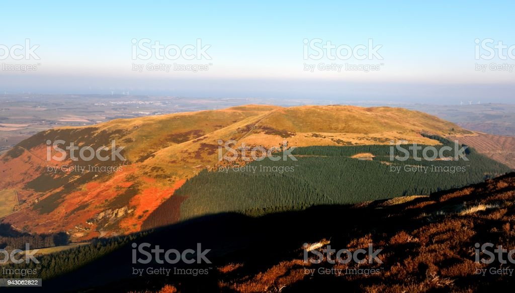 Sunlight over the Lorton Valley stock photo