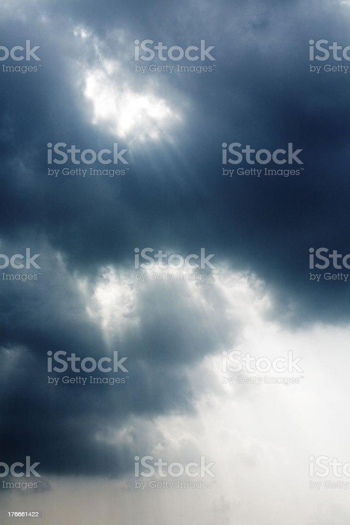 Sunlight(Sunbeams) royalty-free stock photo