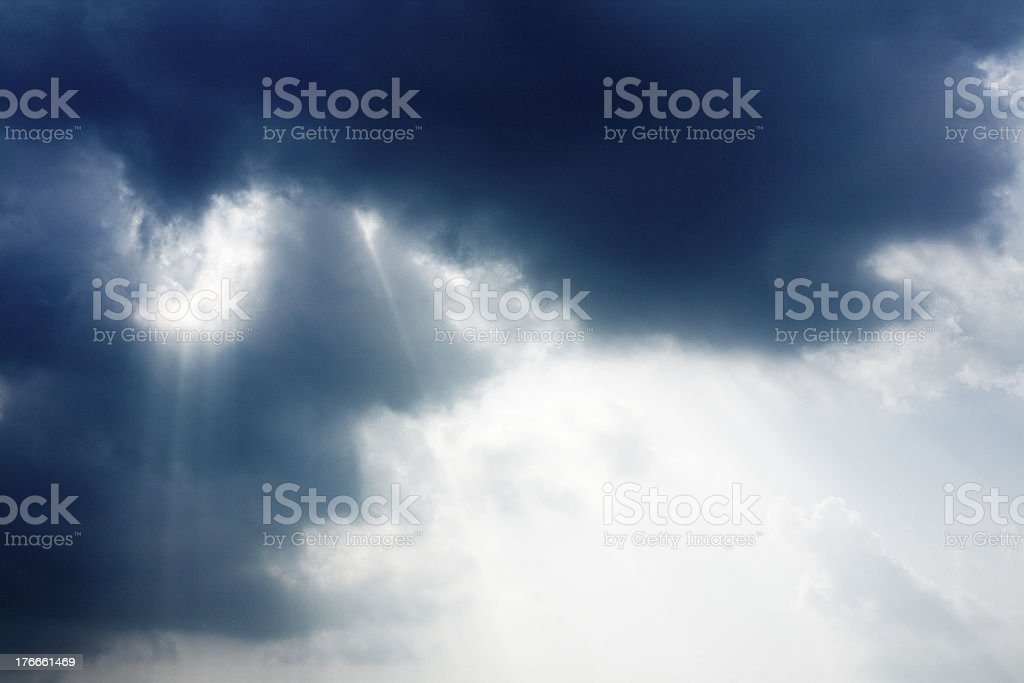 Sunlight(Sunbeams) royalty-free stock photo