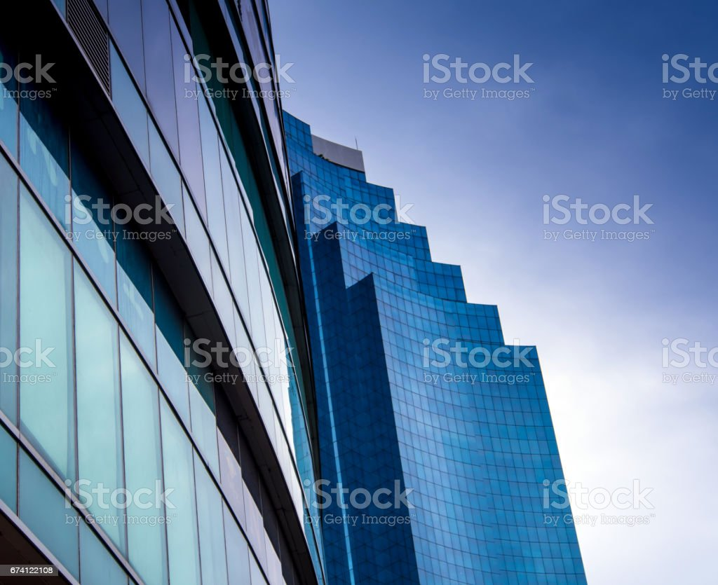 Sunlight reflect on glass of modern building royalty-free stock photo