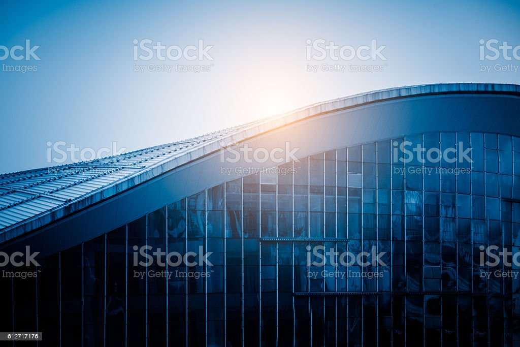 sunlight shine at modern building roof – Foto