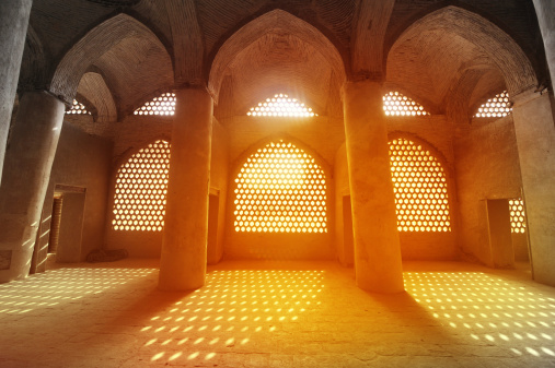 Sunlight through the windows of Sheikh Lotfollah Mosque, Iran.