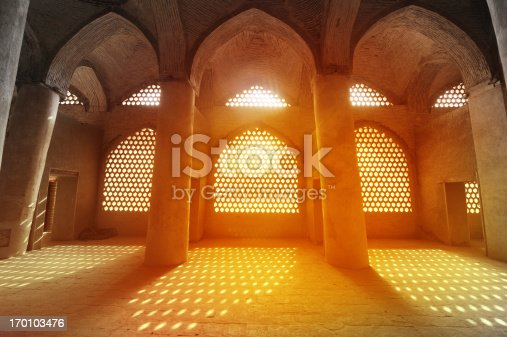 Sunlight through the windows of Sheikh Lotfollah Mosque, Iran.