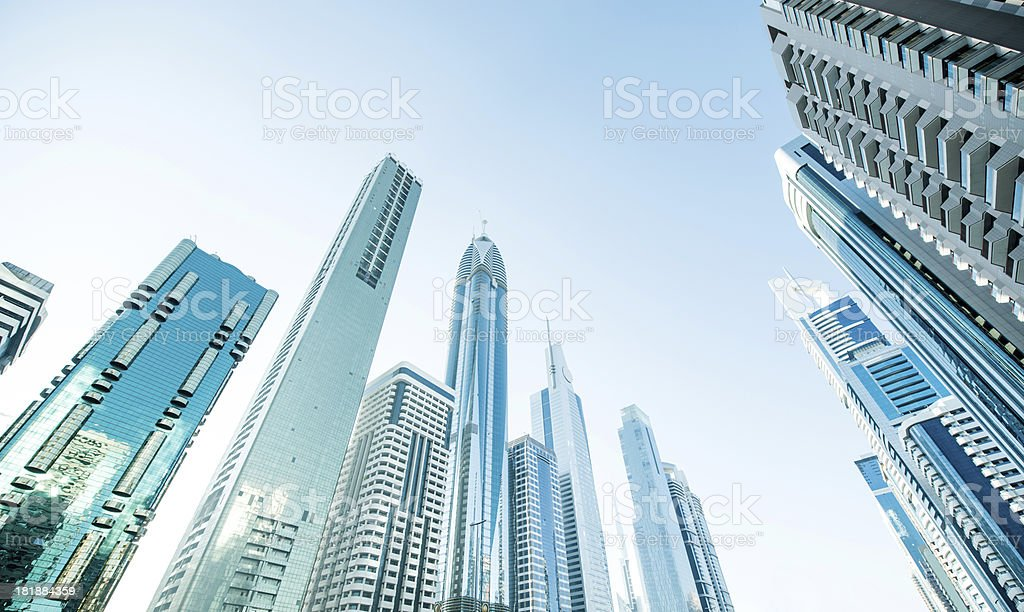 Sunlight trough the cityscape royalty-free stock photo