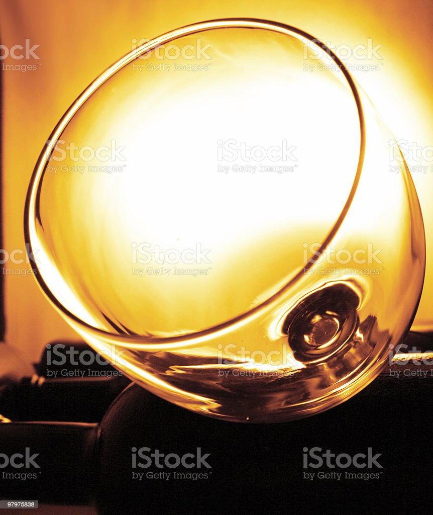 sunlight wine glass royalty-free stock photo