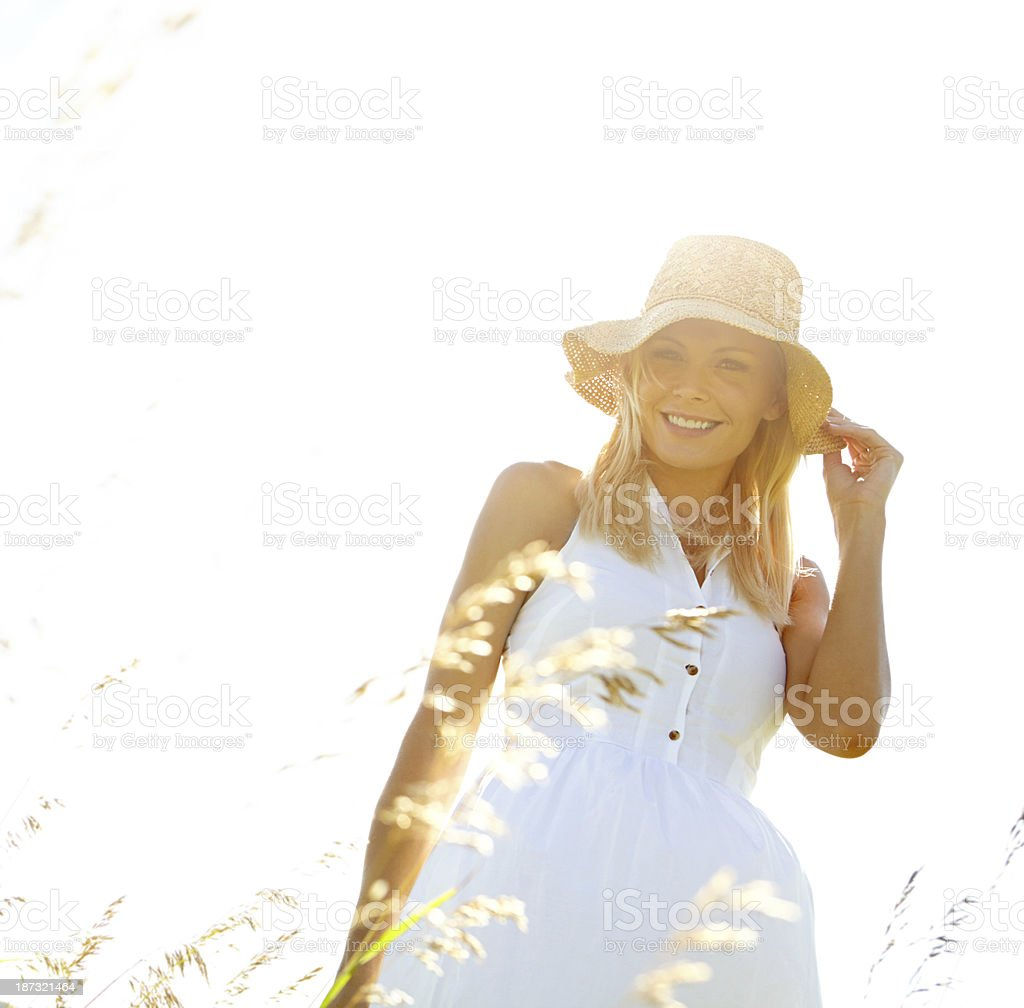 Sunlit beauty royalty-free stock photo