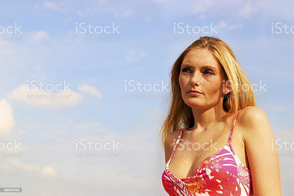 Sunlit beauty royaltyfri bildbanksbilder