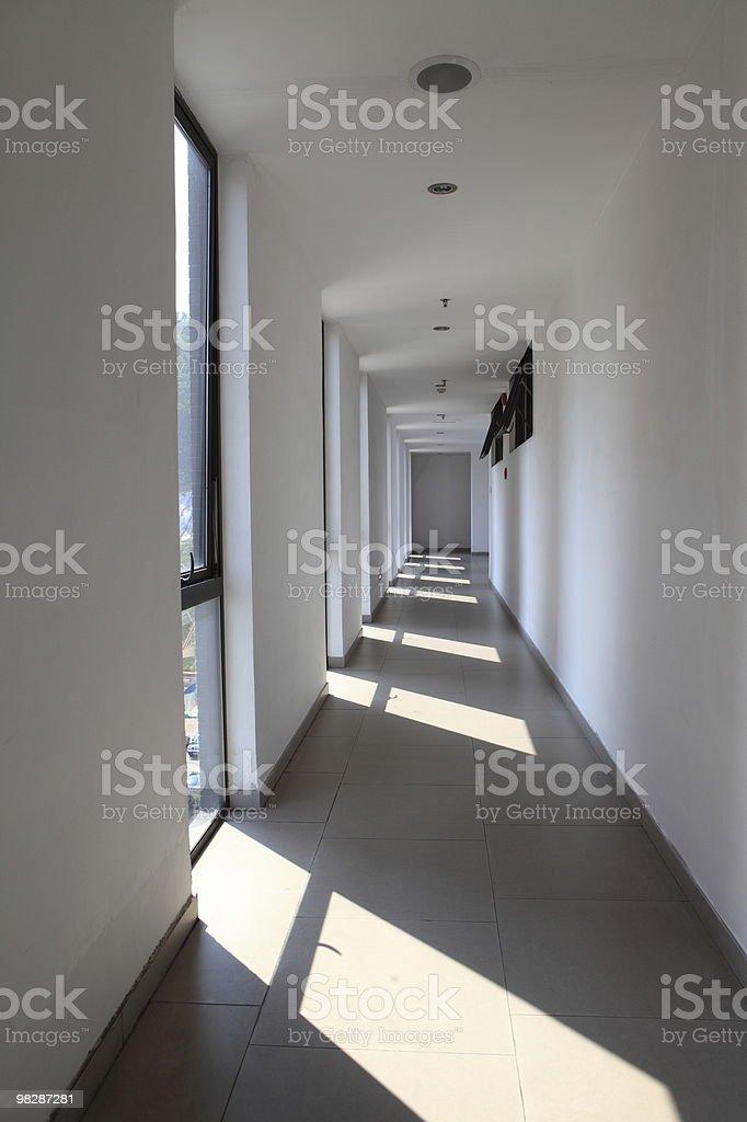 Sunlit corridor royalty-free stock photo