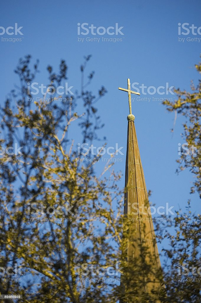 Sunlit cross royalty-free stock photo
