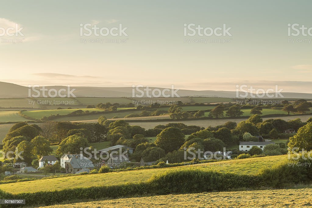 Sunlit Hamlet stock photo