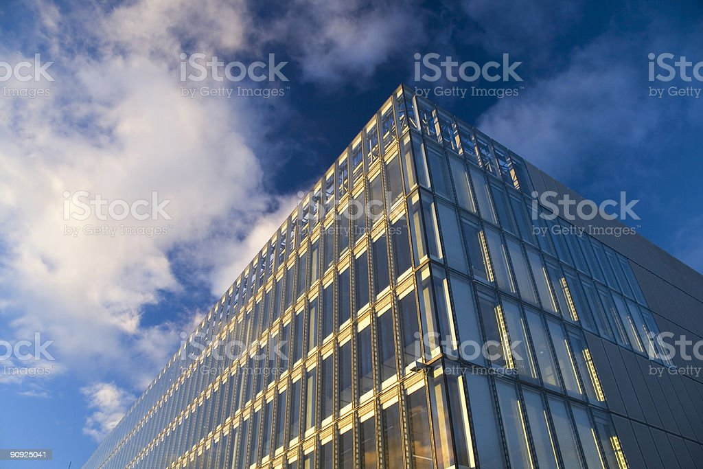 sunlit offices stock photo
