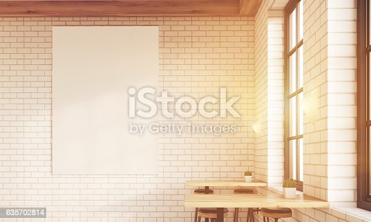 istock Sunlit poster in the bar 635702814