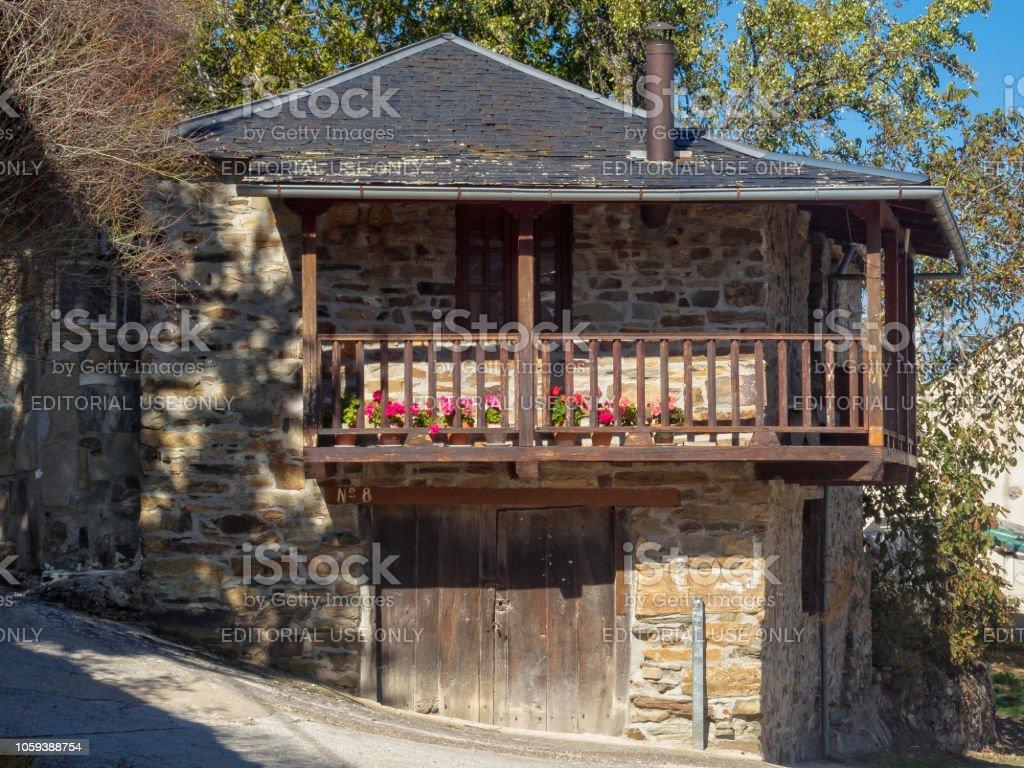 Sunlit veranda - Acebo stock photo