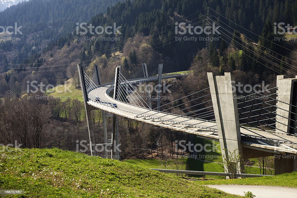 Sunnibergbruecke on the highway bypass to Klosters, Switzerland royalty-free stock photo