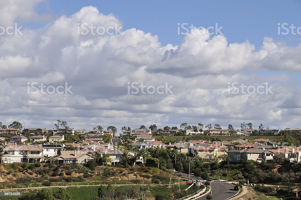 Soleggiato pomeriggio in California Periferia foto stock royalty-free