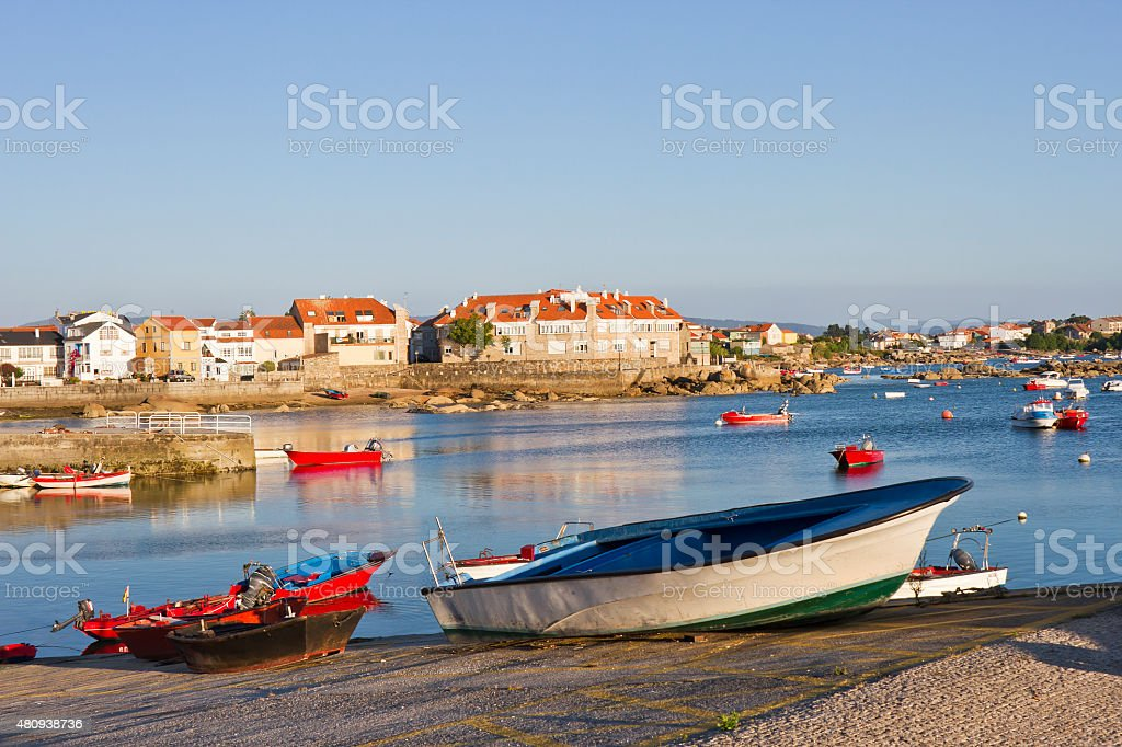 Sunny afternoon on Arousa Island royalty-free stock photo