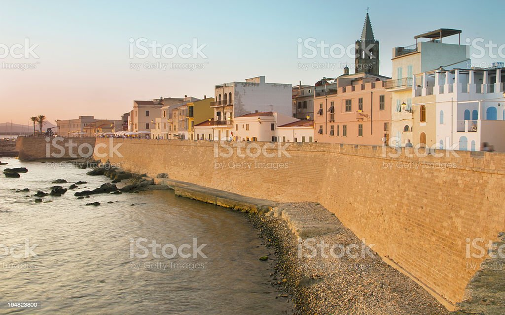 Sunny Alghero stock photo