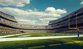 istock Sunny american football stadium 496853834