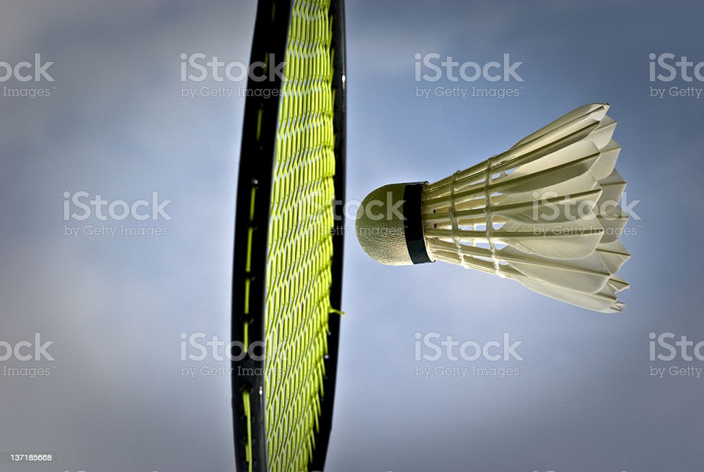 Sunny badminton royalty-free stock photo