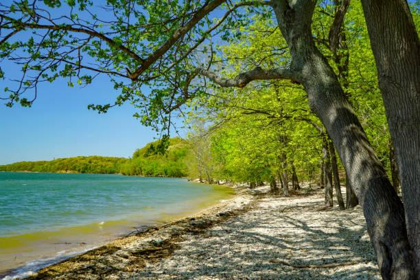 Sunny Beach in Kentucky stock photo
