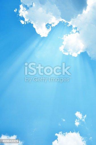 istock Sunny blue sky 455643329