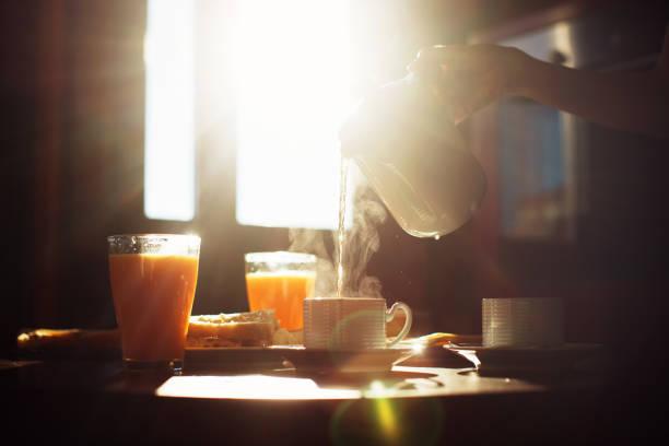 Sunny breakfast stock photo