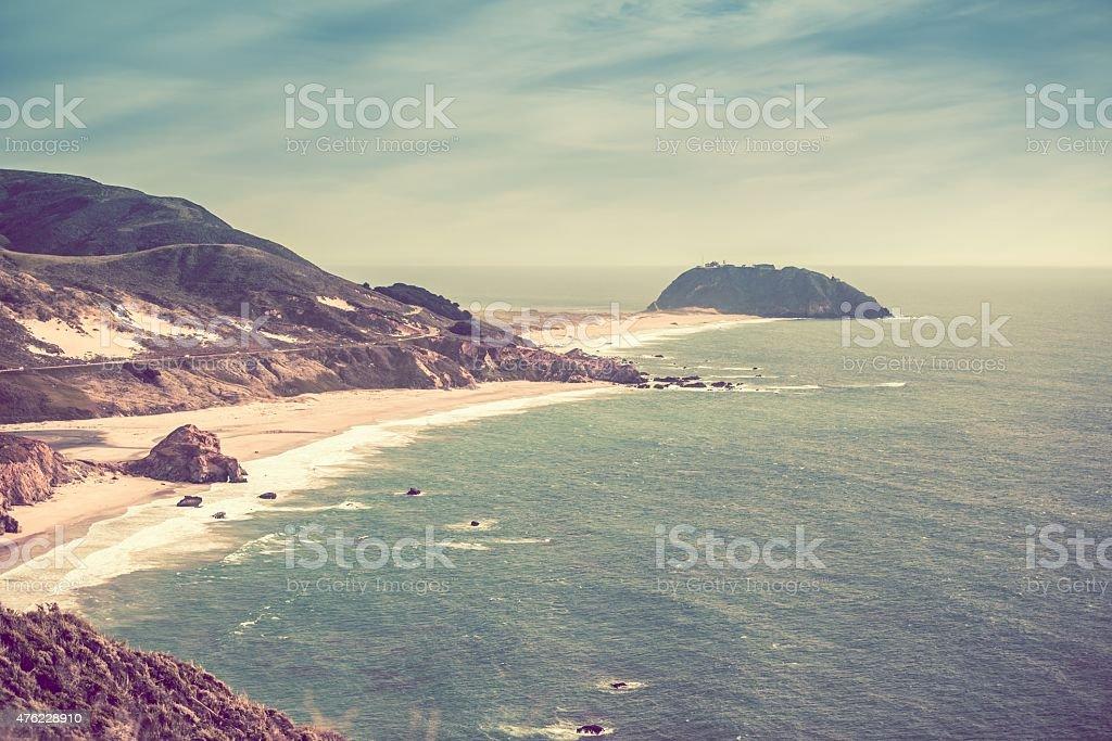 Sunny California Coast stock photo