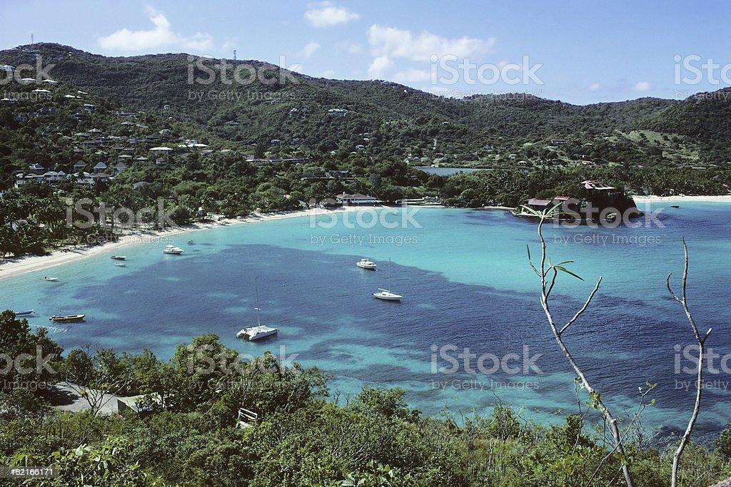 Sunny Caribbean Sea stock photo
