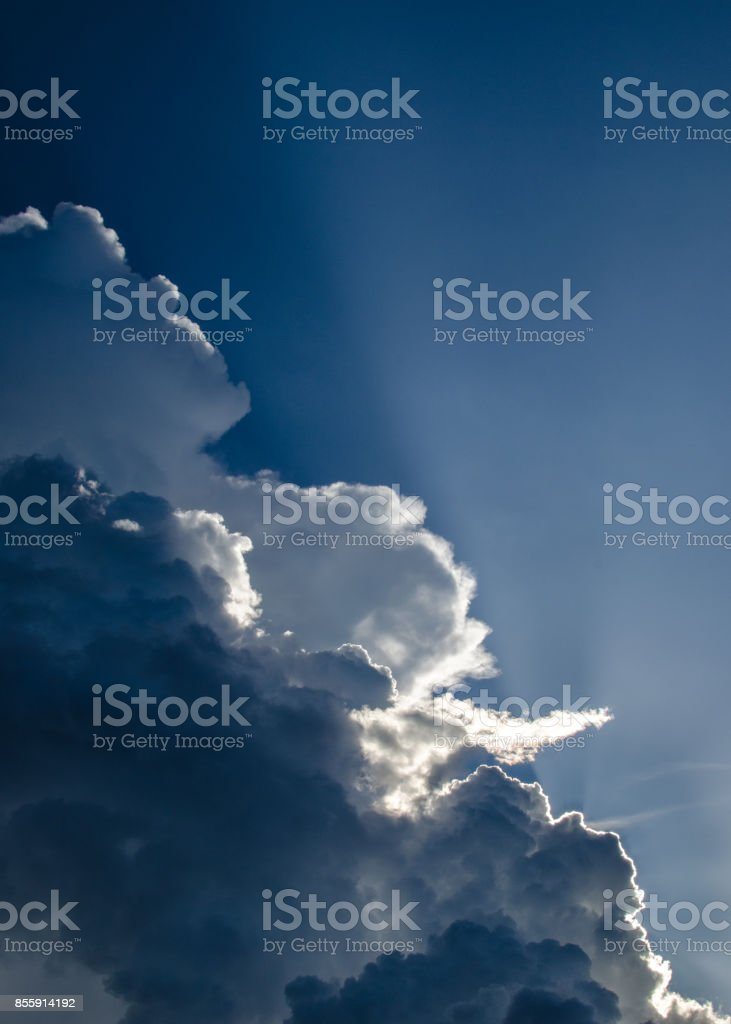 Sunny Clouds stock photo
