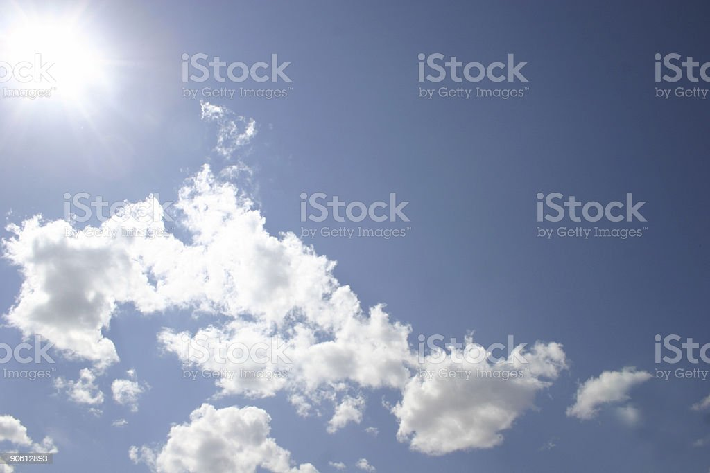 Sunny clouds royalty-free stock photo