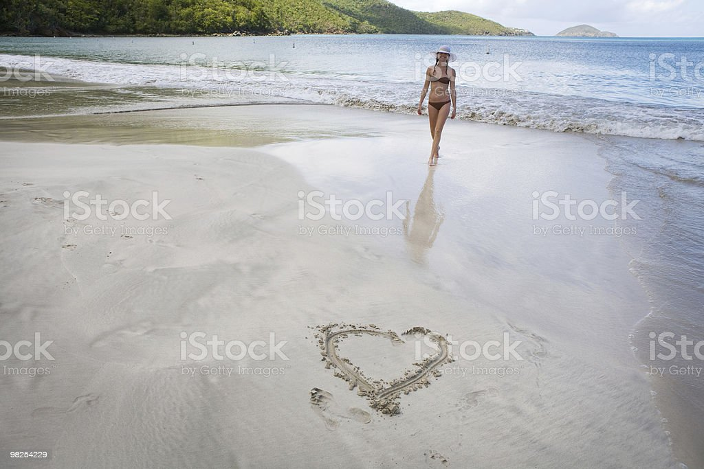 Sunny day at Caribbean beach. royalty-free stock photo