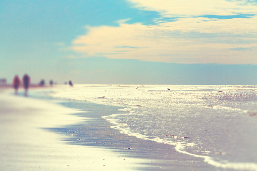Sunny day at the North Sea / Sankt Peter Ording