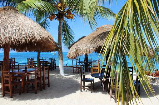 Sunny day at the Playa Palancar Beach of Cozumel