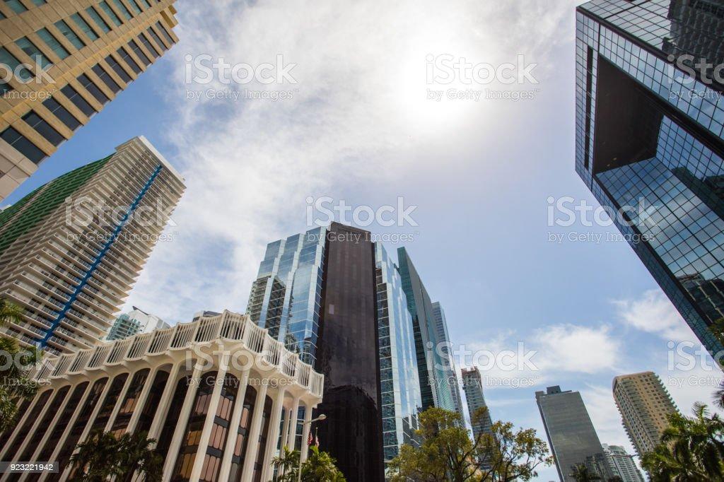 Sunny day dowtown in Miami stock photo