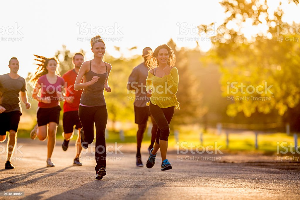 Sunny Day for a Run stock photo