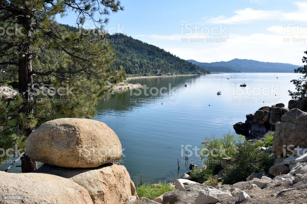 A Sunny Day in Big Bear stock photo