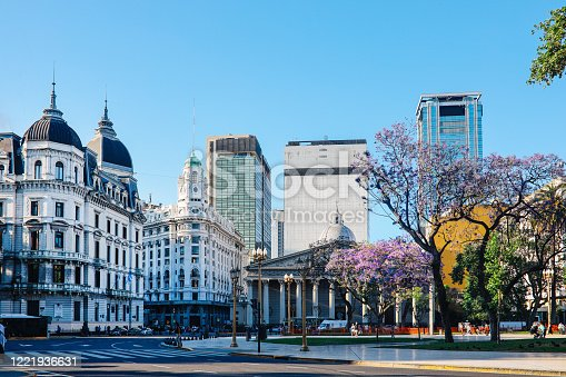 Sunny day in Buenos Aires, Argentina.