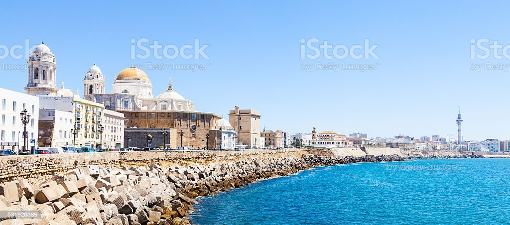 Sunny day in Cadiz - Spain stock photo