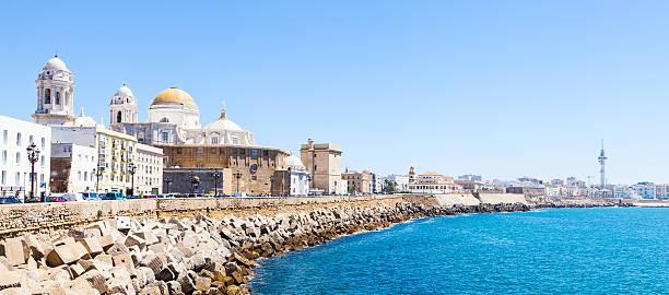Sunny day in Cadiz - Spain stock photo