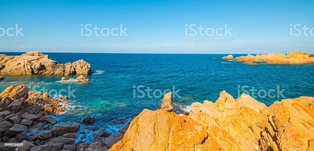 Sunny day in Costa Paradiso royalty-free stock photo
