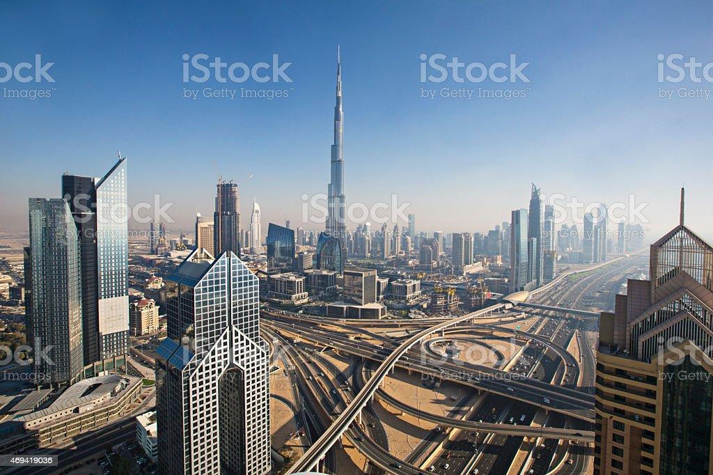 Sunny day in Dubai stock photo
