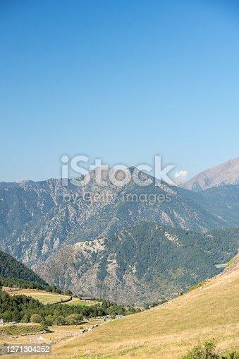 Sunny day in Els Cortals de Encamp on Andorra, Pyrennes Mountians.
