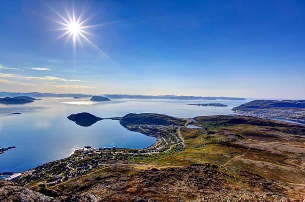 Sunny day in Hammerfest. stock photo