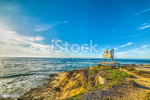 Sunny day in La Jolla beach. San Diego, California