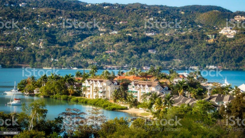 Sunny Day in Montego Bay, Jamaica stock photo