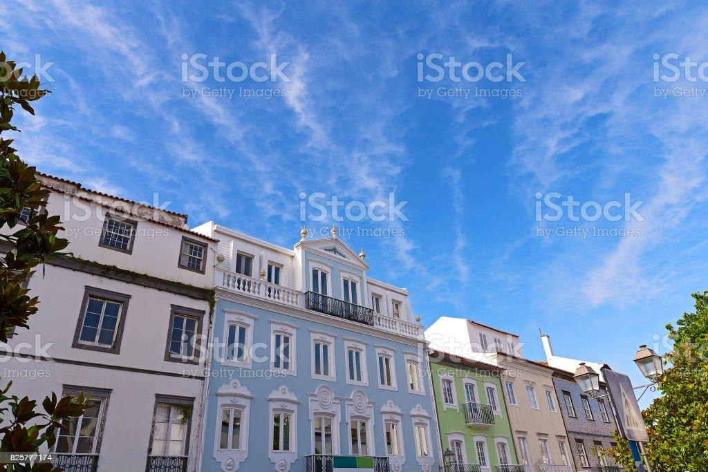 Sunny day in Ponta Delgada, Azores capital city, Portugal. stock photo