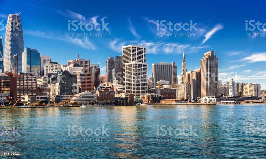 Sunny day in San Francisco stock photo